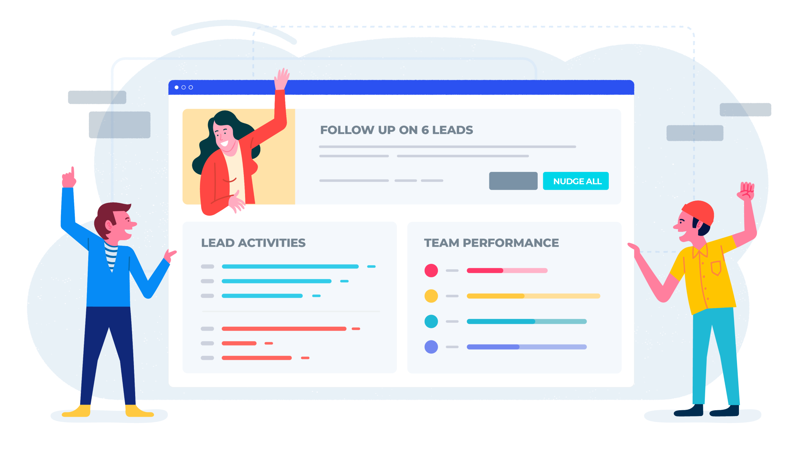 Hero image of marketing team benefits page