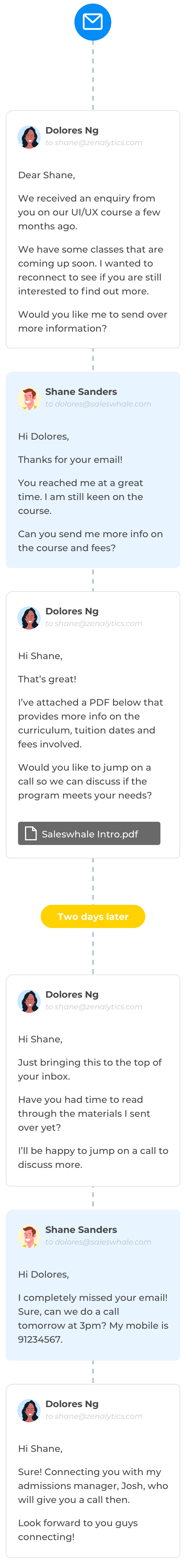 Image for education use case conversation sample